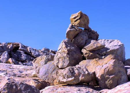 Stack of rocks in Monfrague National Park in Spain.