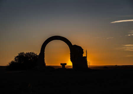 subset: Arc of very ancient chapel in subset