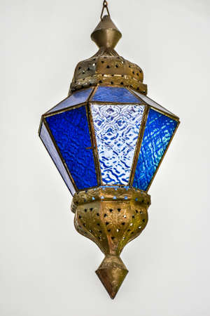 Glass lantern on a white background Stock Photo