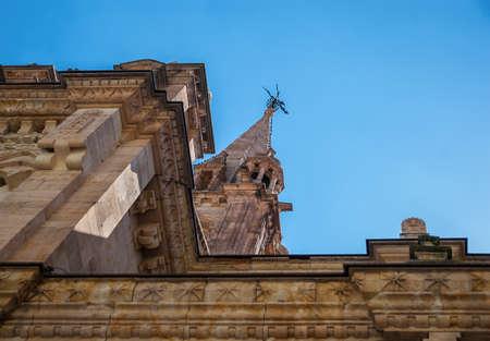 Dome of old church Salamanca, Spain Stock Photo