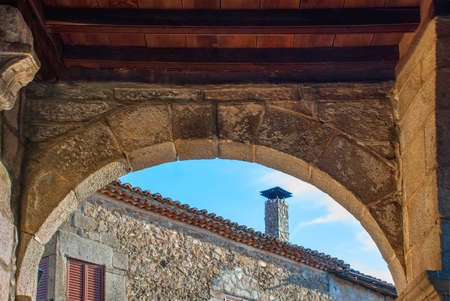 Arc and and in the historic village of Salamanca Spain Stock Photo