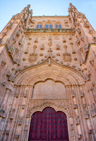 Entrance to the Old Cathedral of Salamanca. Spain