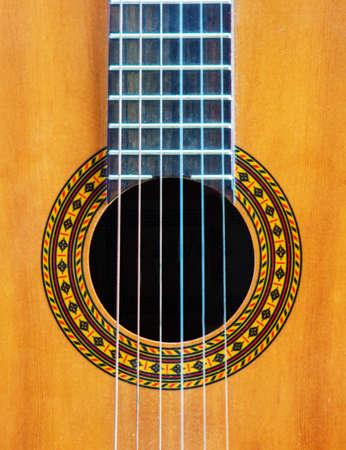 Part of guitar of embellishment svertical view