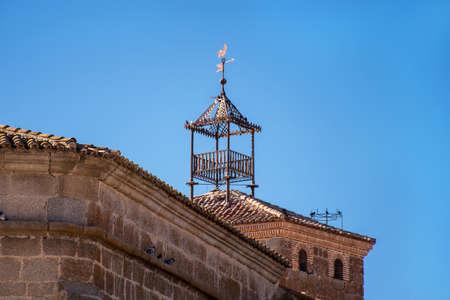 Weather vane in the high tower building. Salamanca. Spain.
