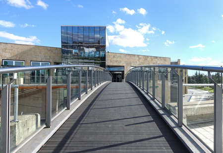 glazing: Glazing bridge in large commercial building Editorial
