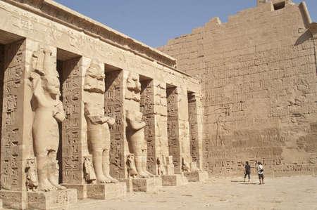 Medinet Habu - mortuary temple of Ramesses III, Luxor, Egypt  Editorial