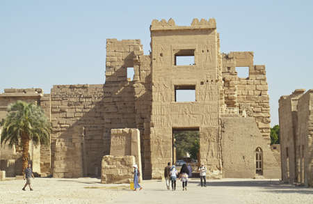 Medinet Habu - mortuary temple of Ramesses III, West Bank of Luxor, Egypt