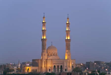 Mosque at night, Aswan, Egypt