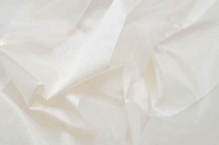 White silk background Stock Photo