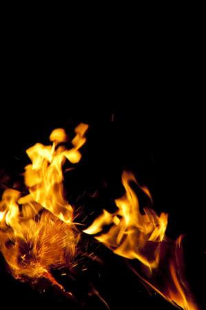 Bonfire on black background