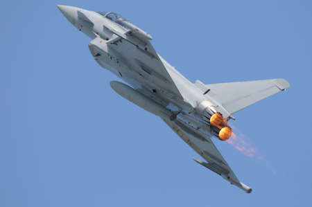 Eurofighter (Typhoon) with afterburner photo
