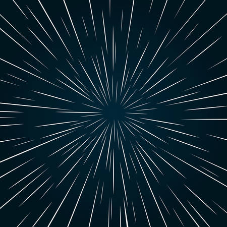 Warp speed abstract background. Stars blurred on a faster than light speed.