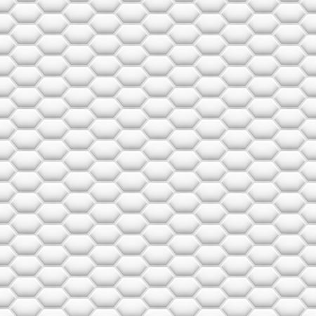 3D like mesh honeycomb white texture. Modern, abstract, light color hexagon seamless pattern.