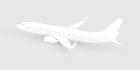 Paper cut art airliner vector illustration, modern white airplane suitable for flight and tourism themed projects, air transportation design element