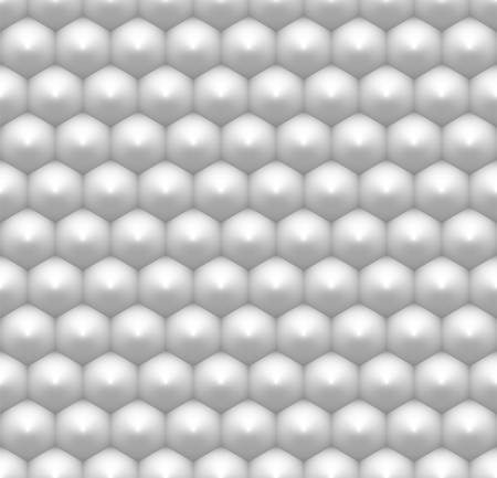 Minimalist white hexagon seamless pattern, abstract honeycomb 3D like industrial background with realistic shading, hi-tech, futuristic style polygonal texture or geometrical backdrop Stock Illustratie