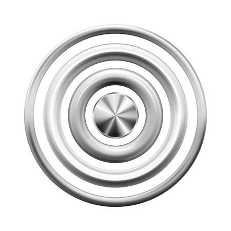 Silver metal rings vector illustration Stock Illustratie