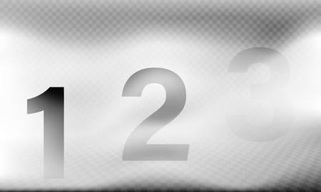 Brouillard vectoriel réaliste avec trois niveaux de profondeur un modèle de scène de brume mystique isolé brume dense ou brume illustration de temps brumeux avec effet de perspective