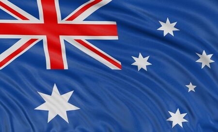 3D Australian flag  Stock Photo