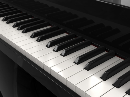 Piano keys  clipping path included
