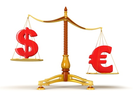 Justice Balance  with Currency  clipping path included