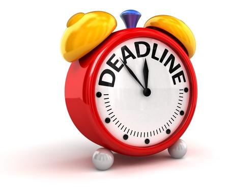 12 o'clock: Deadline time