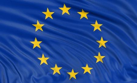 3D flag of the European union Banco de Imagens