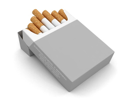 cigarette pack: Cigarette Pack   clipping path included  Stock Photo