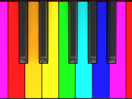 Color piano keys photo