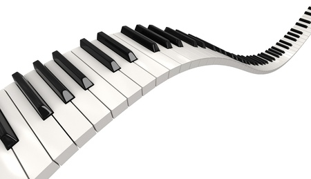 Piano keys  clipping path included  photo