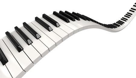 Piano keys  clipping path included Reklamní fotografie - 22081210
