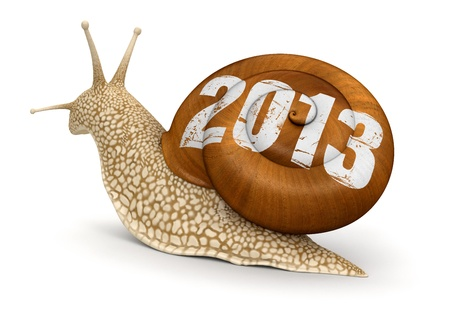 no rush: Snail 2013  clipping path included