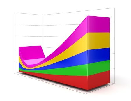 regress: 3d Diagram  Stock Photo