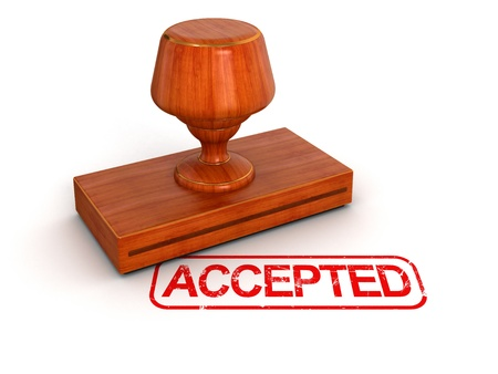 Rubber Stamp Accepted  Stock Photo - 22102720