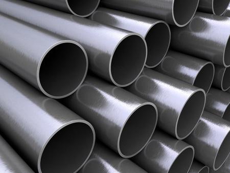 Steel pipes Standard-Bild