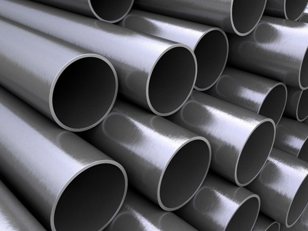 Steel pipes photo
