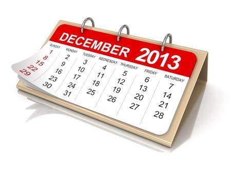 Kalender - december 2013 Stockfoto