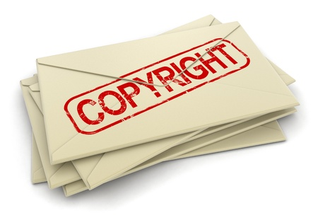 copyright letters  clipping path included  Stock Photo