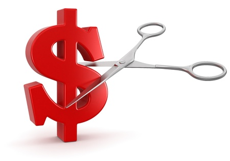 Scissors and dollar  Stock Photo