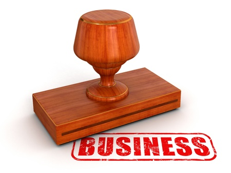 Rubber Stamp Business Stock Photo - 22106114