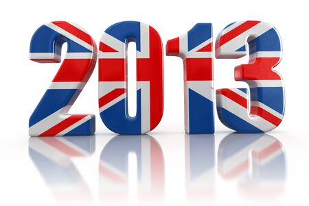 2013 and United Kingdom Flag photo