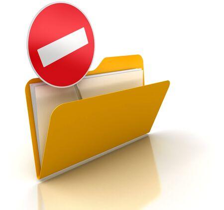 exclusion: Exclusion  Folder Stock Photo