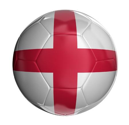 drapeau anglais: Ballon de football avec drapeau anglais