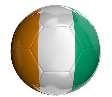 cote d ivoire: Soccer ball with Cote d ivoire flag