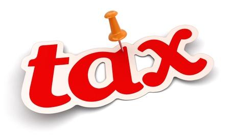 Push Pin and Tax    photo