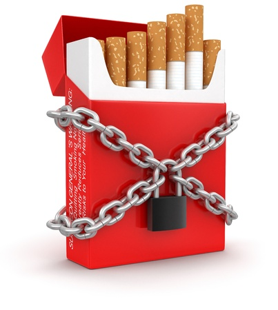 cigarette pack: Cigarette Pack and lock  clipping path included