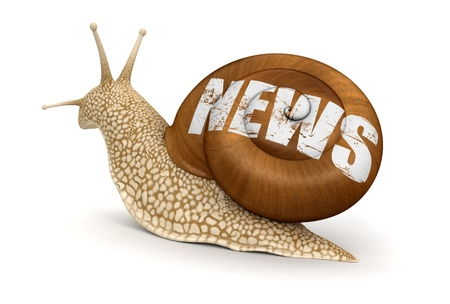 no rush: News Snail  clipping path included  Stock Photo
