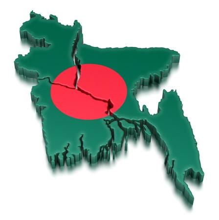bangladesh 3d: Bangladesh  clipping path included