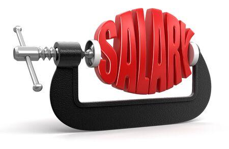remuneraciones: Salario en la abrazadera Foto de archivo