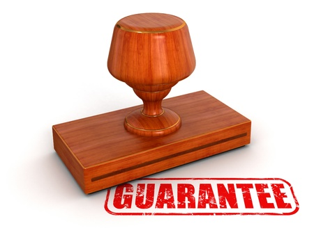Rubber Stamp guarantee Stock Photo - 22141381