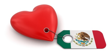 Heart with Mexican flag photo